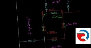 نقشه دو خطی ثبت و شهرداری توسط کارشناس دارای صلاحیت