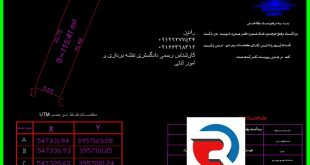 نقشه UTM برای اخذ سند تک برگ منطقه ۲ تهران